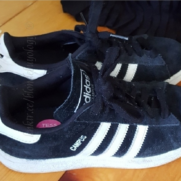 018a9a29fdcc8 adidas Shoes - Adidas campus sneakers kicks black white BOYS 4.5